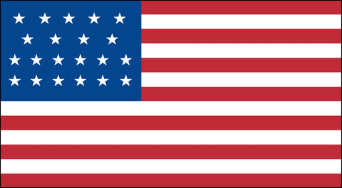 The 21 Star American Flag - Historical Flags