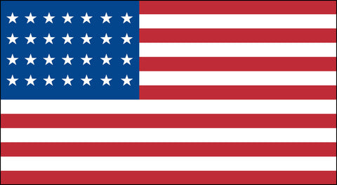 The 28 Star American Flag - Historical Flags