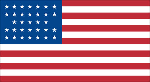 The 33 Star American Flag - Historical Flags