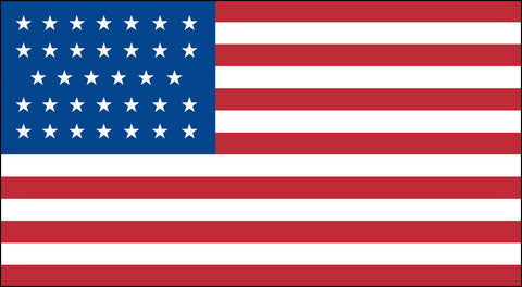 The 34 Star American Flag - Historical Flags