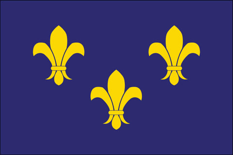 Fleur-De-Lis Blue3 Flag - Historical Flags