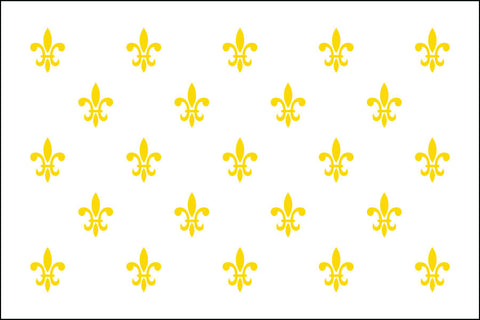 Fleur-De-Lis White23 Flag - Historical Flags