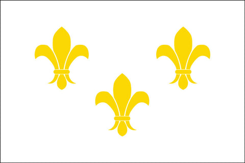 Fleur-De-Lis White3 Flag - Historical Flags