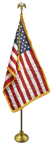 American Flag Set with Stand, Indoor - Pinnacle Flags - 1