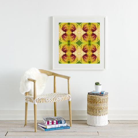 Print of Artichoke Kaleidoscope of Food Square