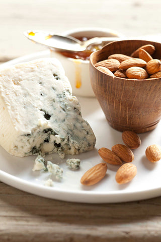 Print of Blue Cheese and Almonds | Fresh Food Prints