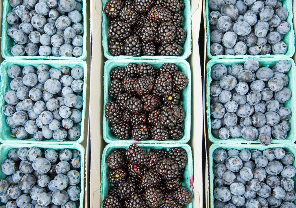 Print of blueberries and blackberries | Fresh Food Prints