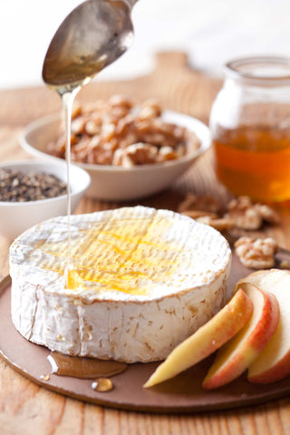 Print of Brie Cheese and Honey