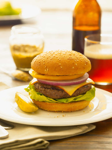 Print of Cheeseburger with Beer | Fresh Food Prints
