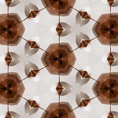 Print of Chocolate Pouring Kaleidoscope of Food Square