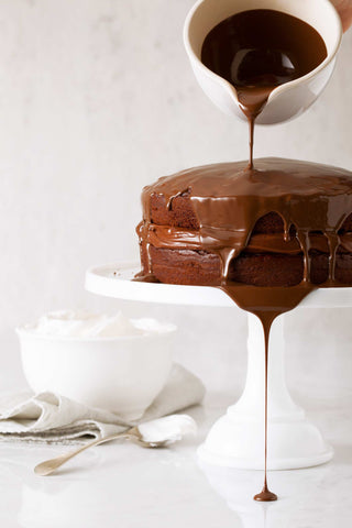 Print of Chocolate Cake with Chocolate Pouring | Fresh Food Prints