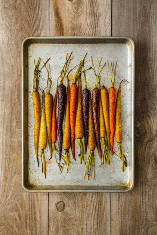 Print of Baked Colored Carrots | Fresh Food Prints