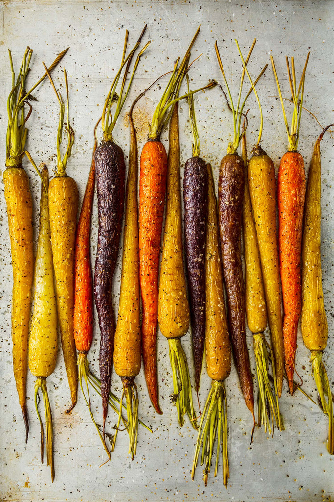Print of Colored Carrots | Fresh Food Prints