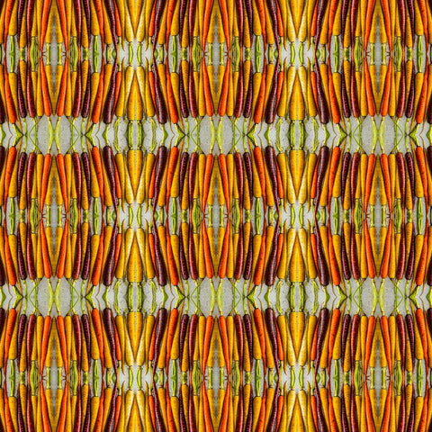 Print of colored carrots kaleidoscope of food | Fresh Food Prints