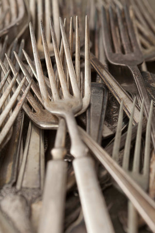 Print of antique silver forks | Fresh Food Prints