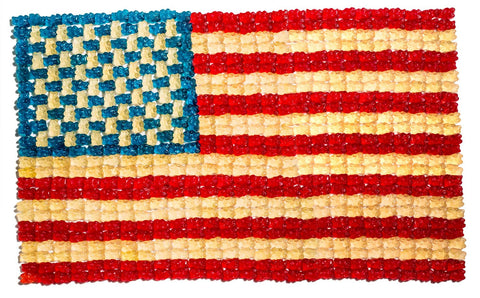 Print of Gummy Bear American Flag