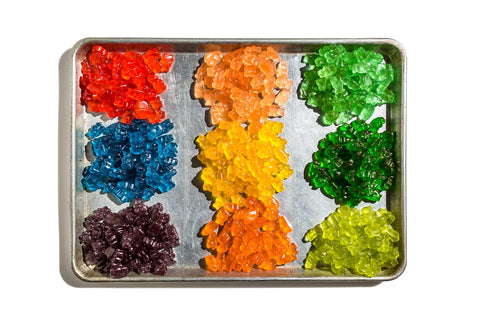 Print of a tray of gummy bears | Fresh Food Prints