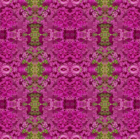Print of purple kale kaleidoscope of food | Fresh Food Prints