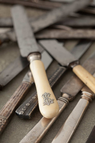 Print of antique knives