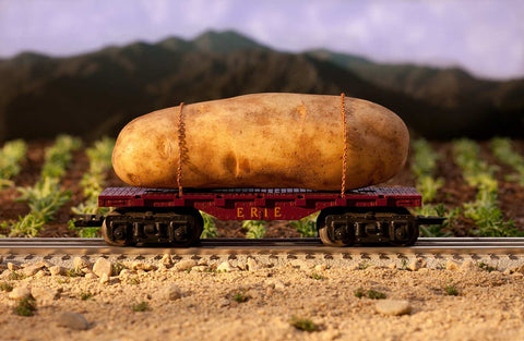 Print of large potato train | Fresh Food Prints