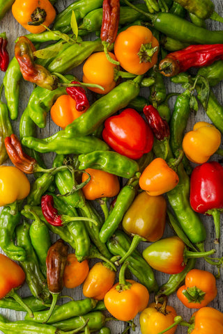 Print of peppers detail | Fresh Food Prints