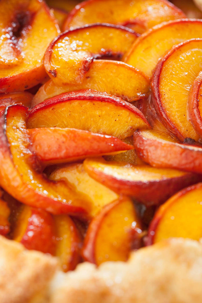 Print of Rustic Peach Tart | Fresh Food Prints