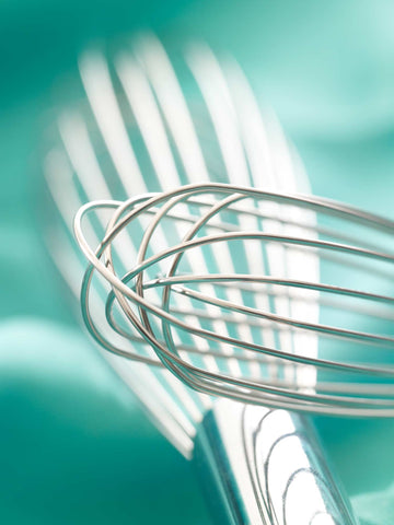 Print of Whisks on Teal