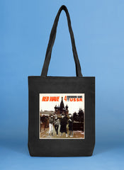 RED WAVE limited edition black tote bag and t-shirts