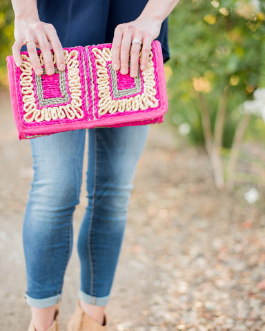 Key West Woven Clutch