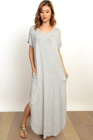 Amora Maxi Dress - Heather Grey