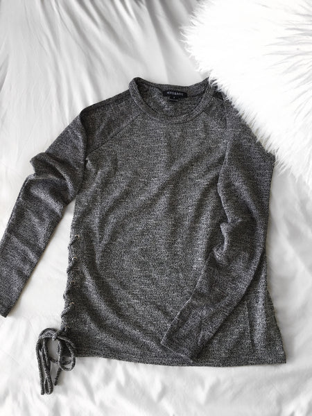 Jules Lace-Up Sweater