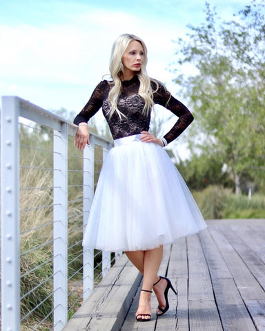 My Darling Tulle Skirt - White