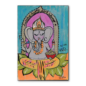 Ganesh Baby Blessings Art Print