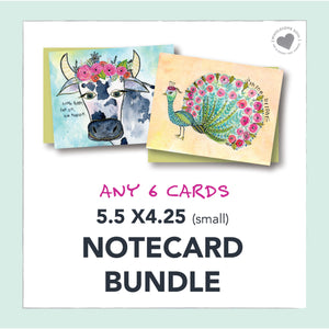 5.5x4.25 Notecard Bundle (6)