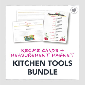 Herb Box Recipe Card + Measurement Magnet Set