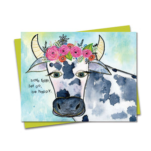 5.5x4.25 Cow Wisdom Notecard