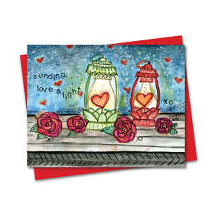 5.5x4.25 Love & Light Lanterns Notecard