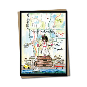 5x7 Happy Adventures Notecard