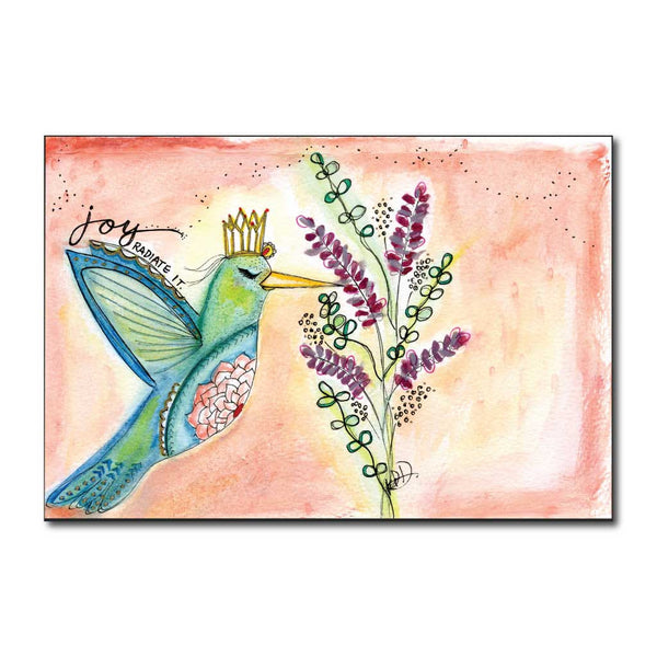 Hummingbird Joy Art Print