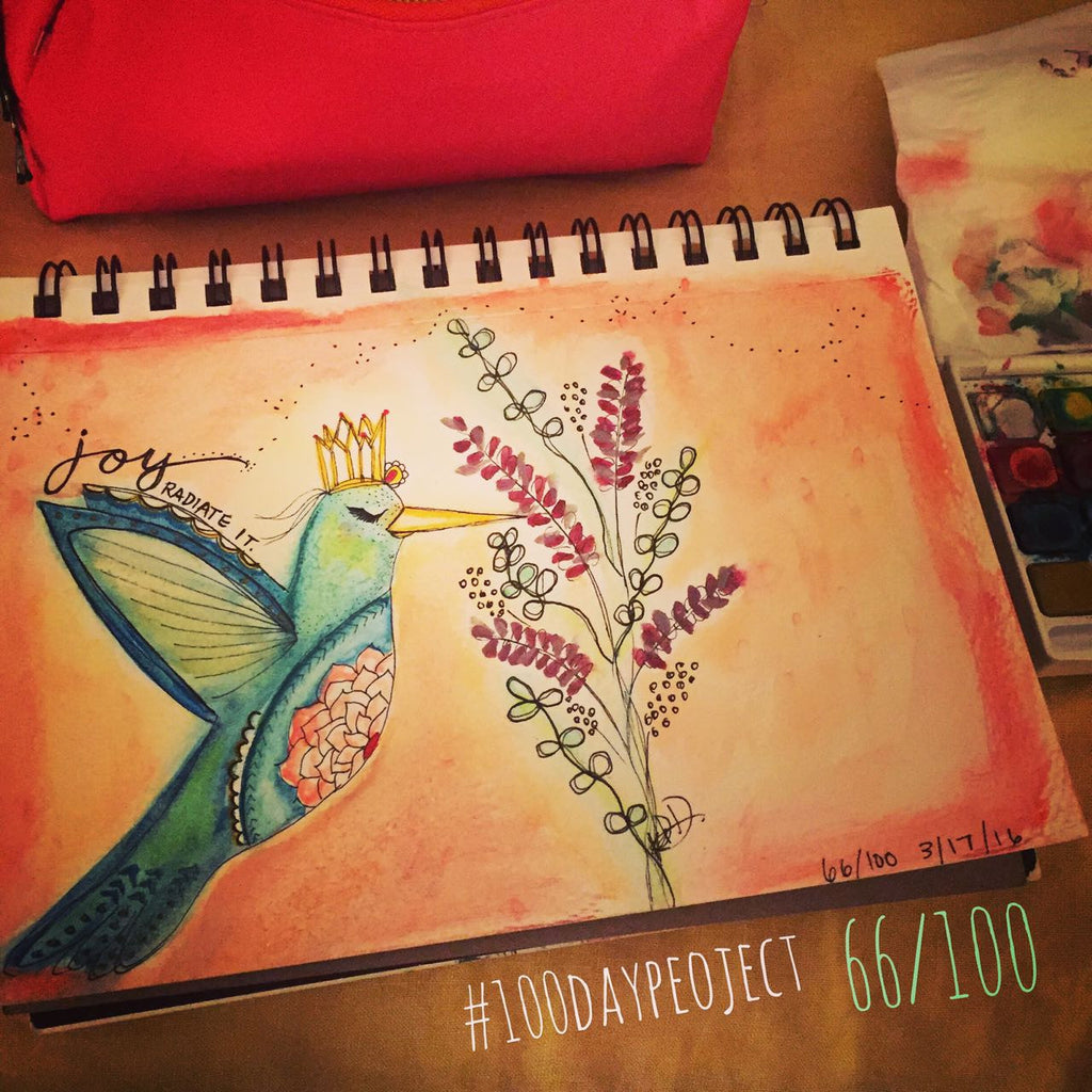 066/100- Hummingbird Joy