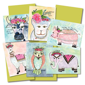 Animal Wisdom Notecard Set of 6