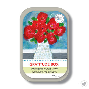Gratitude Box - flowers in vase