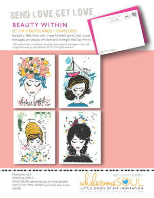 Beauty Within Notecard Set of 8
