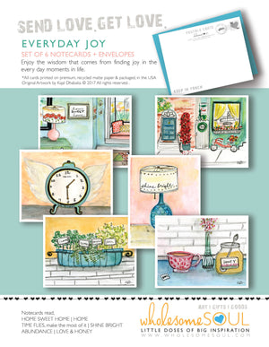 Everyday Joy Notecard Set of 6