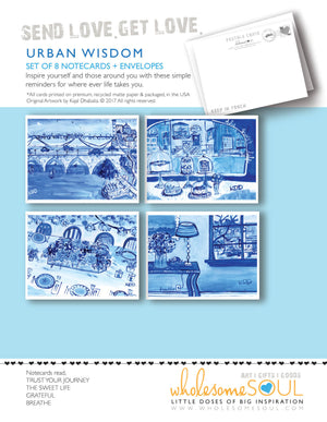 Urban Wisdom Assorted Notecard Set of 8