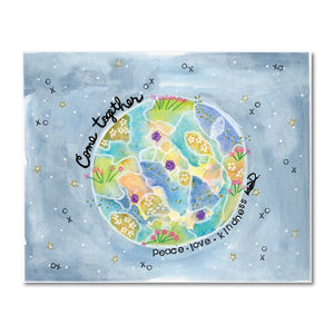 Come Together Globe Art Print