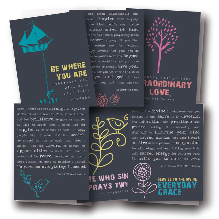 Everyday Mantras Assorted Notecard Set