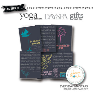 Everyday Mantras Notecard Set of 6