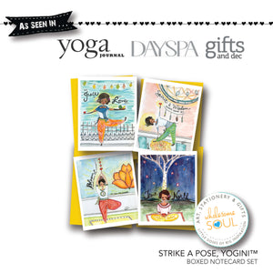 Strike A Pose, Yogini Notecard Set of 8