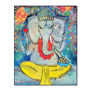 Ganesha Grateful Art Print